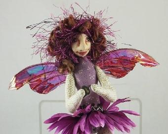 Art Doll-Nera the Sprite OOAK Cloth Doll Faery