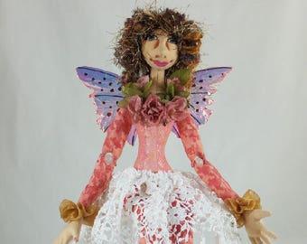 Art Doll-Bibi the Faery OOAK Cloth Doll