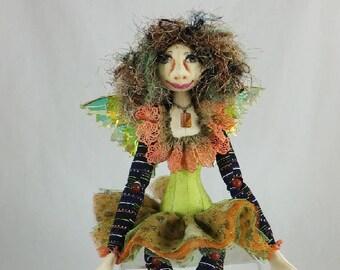 Art Doll-Fera the Faery OOAK Cloth Doll