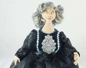 Art Doll-Nora the Great Generation,Cloth Doll, OOAK Doll, Handmade Doll, Collector Doll