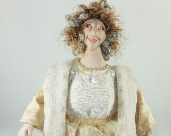 Cloth Doll, Patricia the Great Generation, Art Doll, OOAK Doll, Handmade Doll, Collector Doll