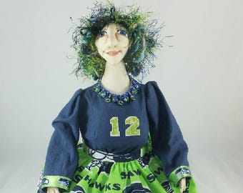 Art Doll-Nettie the Great Generation Cloth Doll, OOAK Doll, Handmade Doll, Collector Doll