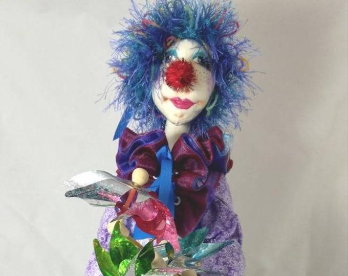 Art Doll-Clarabelle the Clown-OOAK Cloth Doll