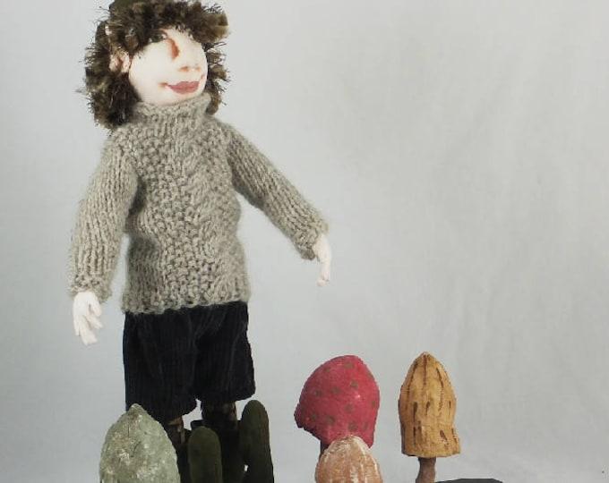 Art Doll-Gavin the Elf OOAK Cloth Doll