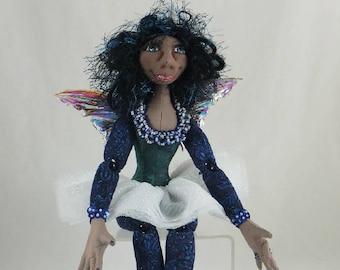 Art Doll-Tissa the Faery OOAK Cloth Doll