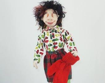 Art Doll-Joel the Elf OOAK Cloth Doll