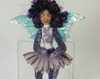 Art Doll-Loorea the Sprite OOAK Cloth Doll Faery