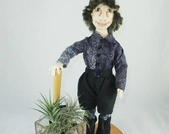 Art Doll-Larry the Elf OOAK Cloth Doll