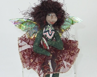 Art Doll-Iona the Sprite OOAK Cloth Doll Faery