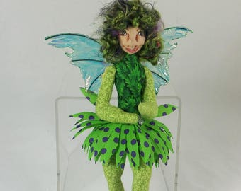 Art Doll-Jarka the Sprite OOAK Cloth Doll Faery