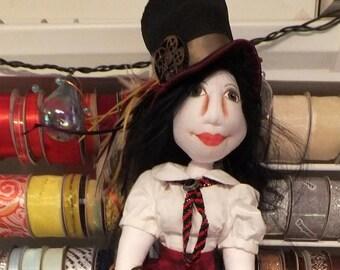 Art Doll-Annika the Dragon Sitter an OOAK Cloth Art Doll