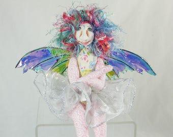 Art Doll-Verra the Sprite OOAK Cloth Doll Faery