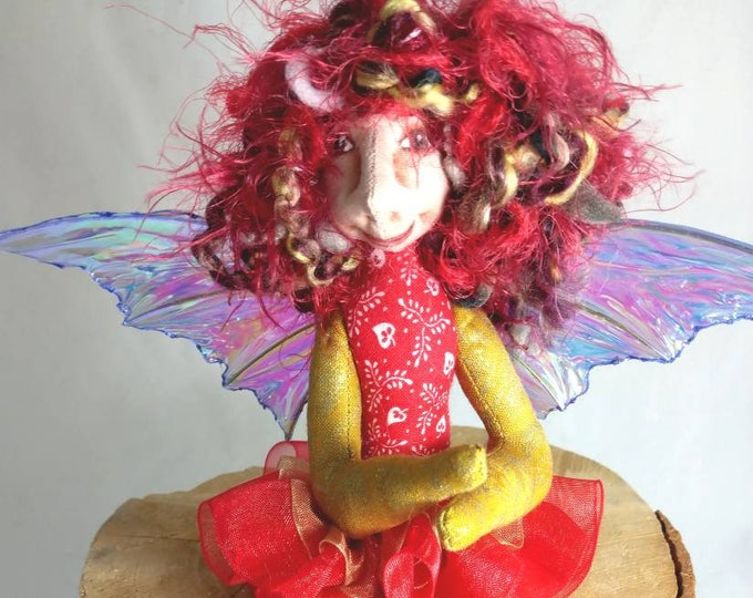 Art Doll-Berra the Sprite OOAK Cloth Doll Faery
