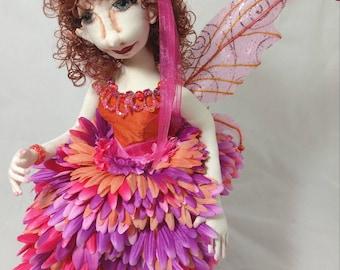 Art Cloth Doll Fairy, Anani the Faery, Art Doll, OOAK Doll, Handmade Doll, Collector Doll