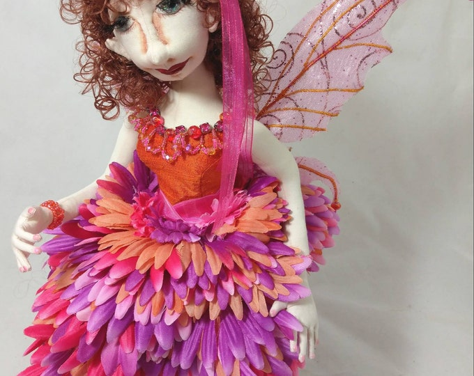 Art Cloth Doll Fairy, Anani the Faery, Art Doll, OOAK Doll, Handmade Doll, Collector Doll