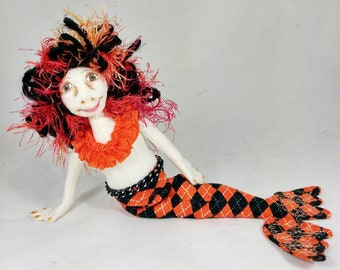 Art Doll-Queela the Small Mermaid OOAK Cloth Doll