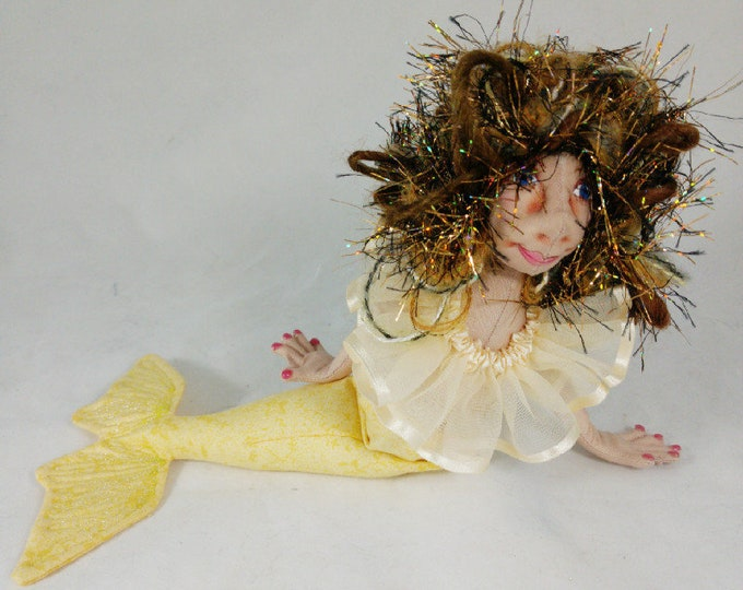 Art Doll-Eagan the Small Mermaid OOAK Cloth Doll