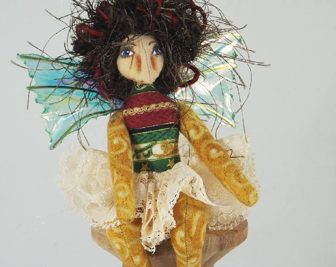 Pocket Pixie-Christmas Themed OOAK Art Doll