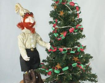 Art Doll-Gaston the Elf OOAK Cloth Doll