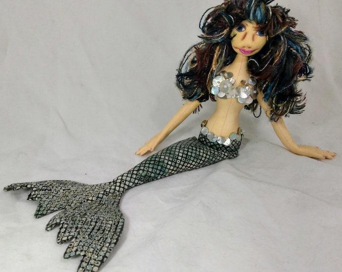 Art Doll-Pania the Medium Mermaid OOAK Cloth Doll