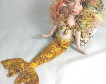 Art Doll-Intka the Small Mermaid OOAK Cloth Doll