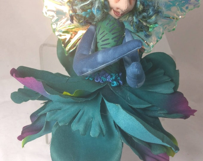 Art Doll-Ninon the Sprite OOAK Cloth Doll Faery