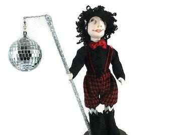 Art Doll-Ernie the Elf OOAK Cloth Doll