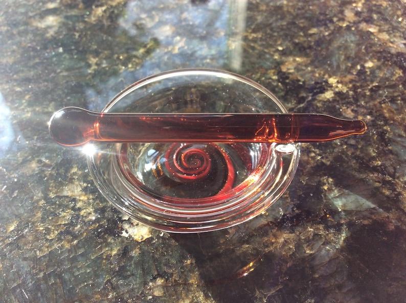 Glass Blown Dish And Dabber Set
