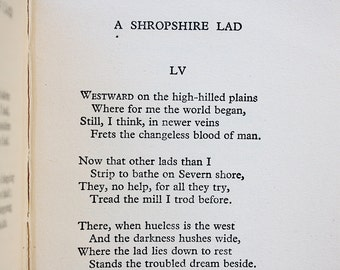 Poetry book etsy a shropshire lad vintage poetry book literary gift classic english literature decor poetry gift a e housman old poems stopboris Image collections