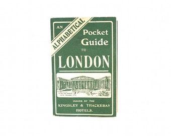 Vintage London Map - Vintage London Subway Map - Rare London Underground Map - London Pocket Guide - Antique London Map - London Gift