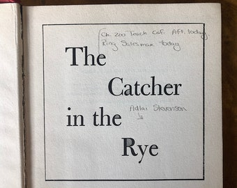 The Catcher in the Rye Vintage Book - JD Salinger Book - Vintage Modern Library Book - Classic American Literature - Literary Gift Book