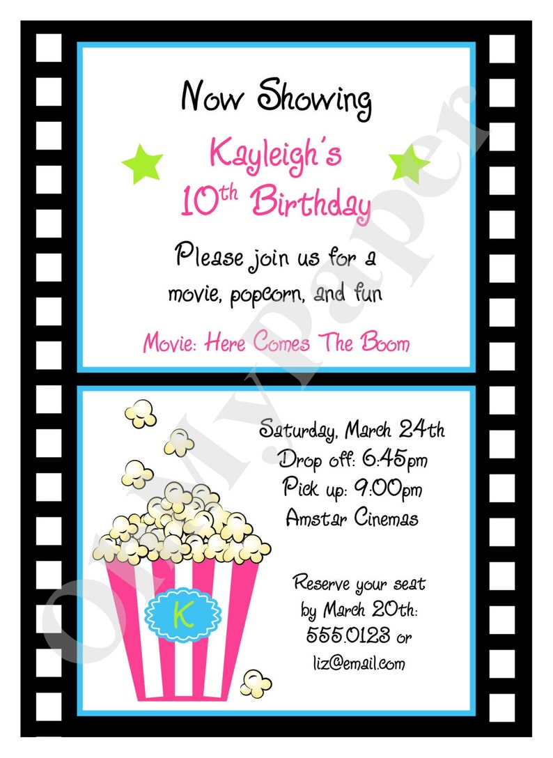 photo about Free Printable Movie Party Invitations named Descargar Epub Online video Occasion Invites
