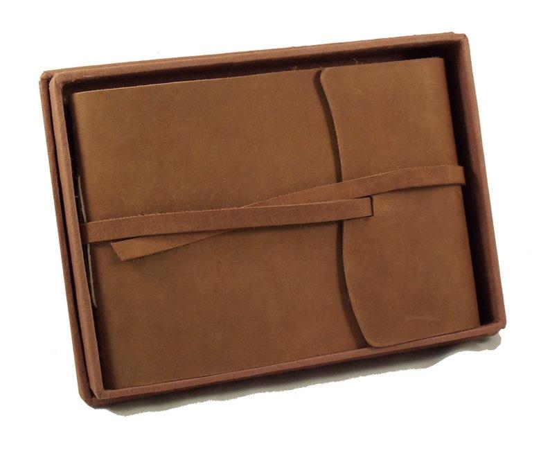 Leather Photo Album Scrapbook Album Small Photo Album image 0