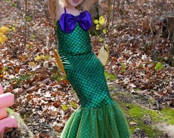 Mermaid Costume; Mermaid Dress (Girls' sizes)-Fast shipping!