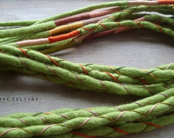 10 Rasta Wool Dreadlocks, 95-105 cm, Falls, Hair Accessories, African, Wool Dreads, Wool Falls, Wool Locks, Felt Dreads, African Style