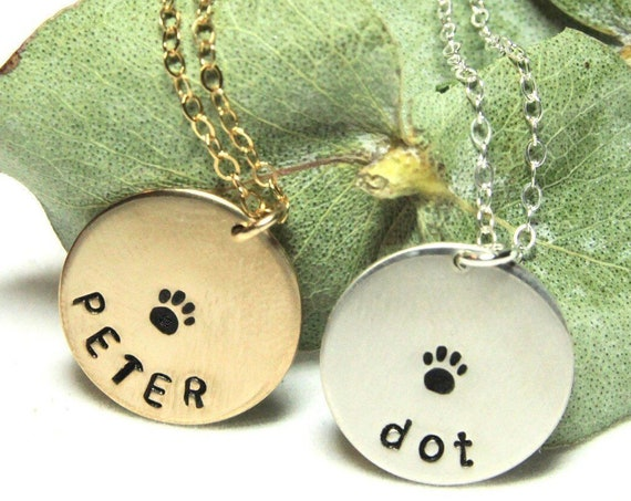 Gold Paw Print Necklace | Gold Paw Necklace | Tiny Paw Necklace | Pet Loss Necklace | Tiny Paw Charm | Pet Sympathy | Loss of Pet | Sterling