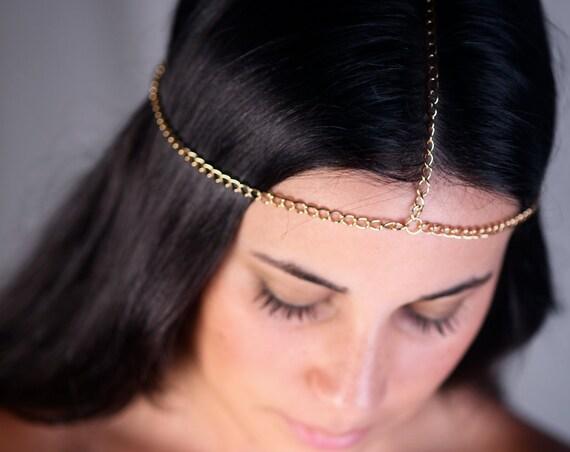 Head Chain | Hair Chain | Chain Headpiece | Head Jewelry Chain | Head Chains | Bridal Hair Chain | Chain Headdress | Gold Hair Chain