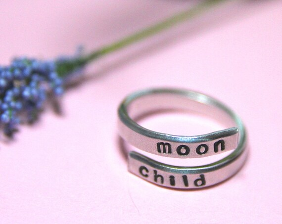 Moon Child Ring. Child of the Universe. Moon Child Jewelry.