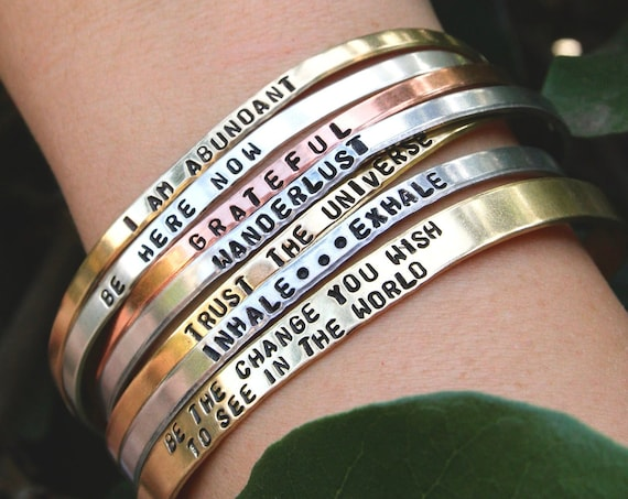 Custom Bracelet | Personalized Jewelry | Bracelets for Women | Stamped Bracelet | Personalized Bracelet | Customized | Cuff | Hand Stamped