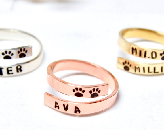 Pet Sympathy Gift | Pet Memorial Gift | Pet loss Gift | Pet Name Ring | Sympathy gift | Loss of Pet | Pet Remembrance | Sorry for your loss