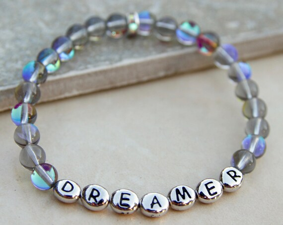 Dreamer Bracelet | She's a dreamer | Gift for Yogi | Spiritual Jewelry | Dreamer | Positive affirmation | Pisces Jewelry | Law of Attraction