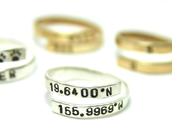 Long Distance Ring | Long distance love | State Ring | Relationship Ring | Country Ring | Coordinates Ring | Long distance Family | GPS ring