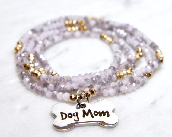 Dog Mom   Stay at Home Dog Mom   Dog Mom Gift    Dog mom necklace   Dog mom jewelry   Fur Mama   Dog bone necklace   Dog lover gift
