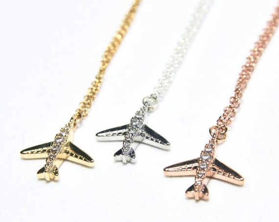 Airplane Necklace | Wanderlust Necklace | Air Plane Necklace | Aviation Necklace | Plane Necklace | Travel Necklace | Wanderlust jewellery
