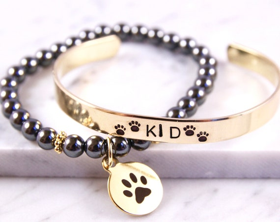 Personalized Pet Bracelet | Custom Dog Mom | Pet Loss Bracelet | Paw Print Bracelet | Dog Loss Gift Idea | Pet Sympathy | Pet Remembrance