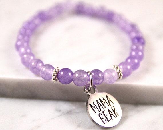 Mama Bear | Momma Bear | Mommy Bracelet | New Mom Bracelet | Mama Bear Bracelet | Momma Bear Gift | Mom from Son | Mom From Husband