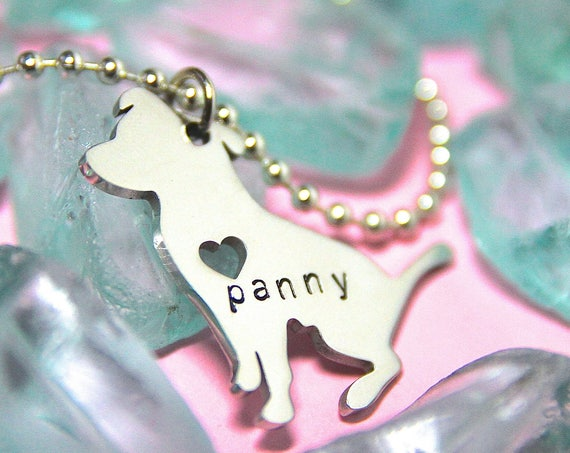 Custom Dog Necklace. Pet Name Jewelry. Pet Memorial. Dog Mom. Pet jewelry. Custom Dog Jewelry.