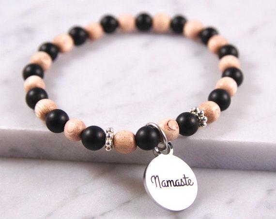 Namaste | Namaste Jewelry | Namaste Bracelet | Yoga Teacher | Yoga Gift | Mala Beads | Yoga Bracelet | Yoga Jewelry | Namaste in Bed | Beads