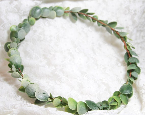 Green Flower Crown | Eucalyptus flower crown | Green Wedding Crown | Eucalyptus Crown | Greenery Crown | Green Leaf Crown | Woodland crown