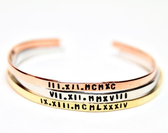 Roman Numeral Bracelet | Roman Numerals | Roman Numeral | Roman Numeral Bar | Roman Numeral Gift | Personalized Bracelet for Women | Custom
